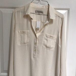Ann Taylor Loft size medium ivory blouse NWT